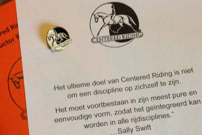 Centered Riding Level I instructeur Dorine Erkens